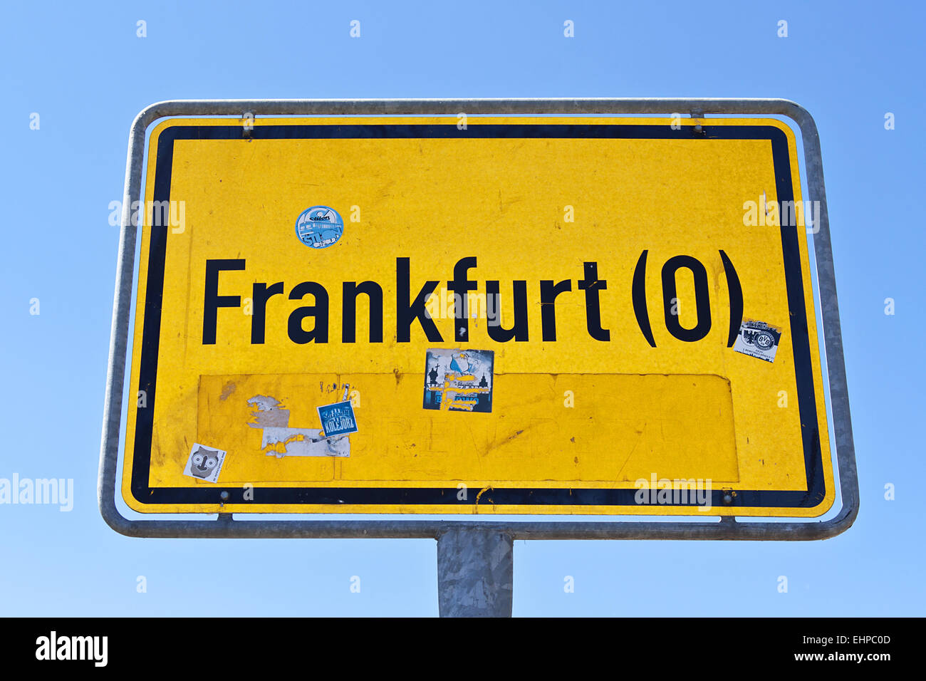 Town sign - Stock Image