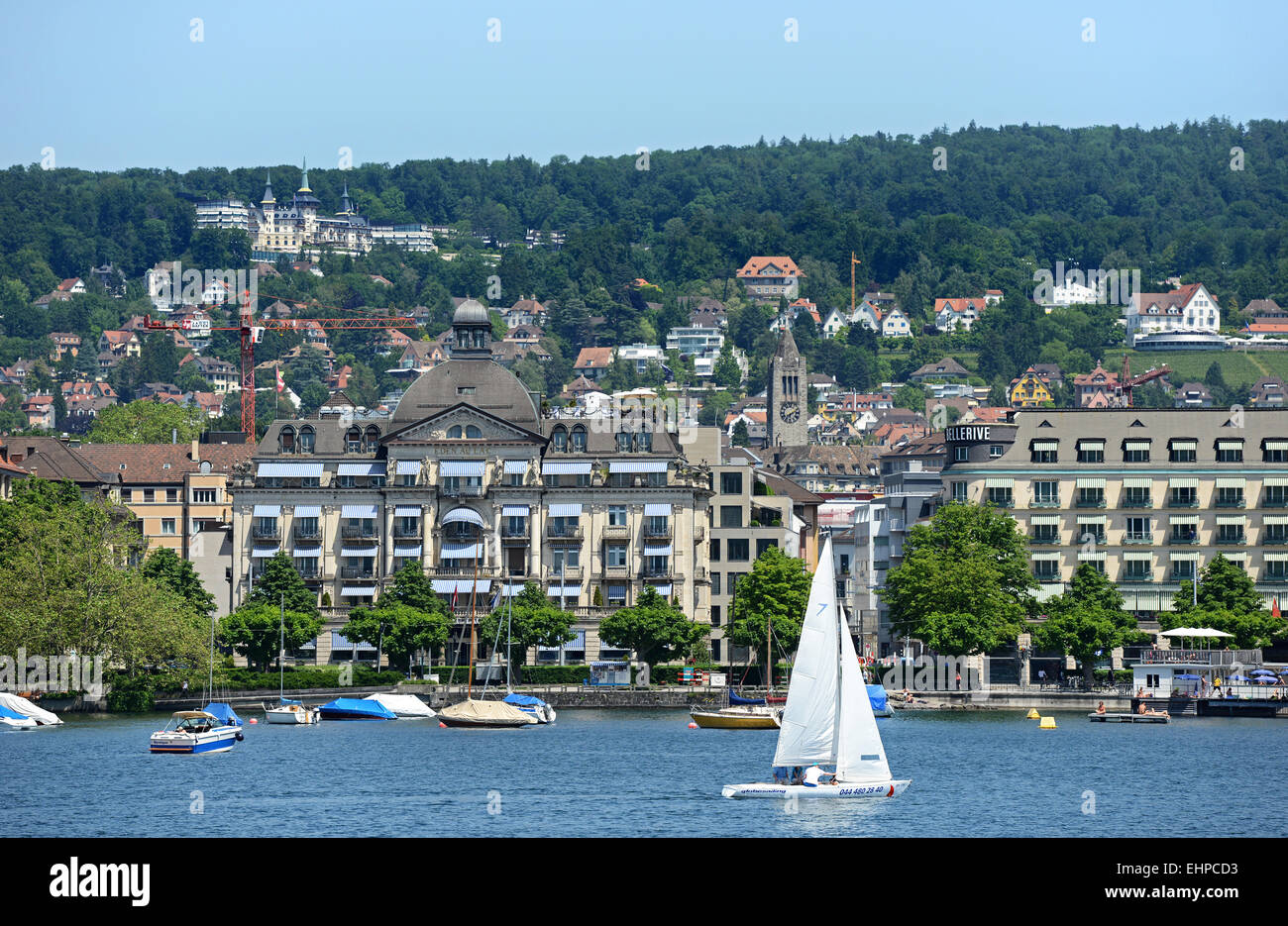 Zürichsee / Lake Zurich - Stock Image