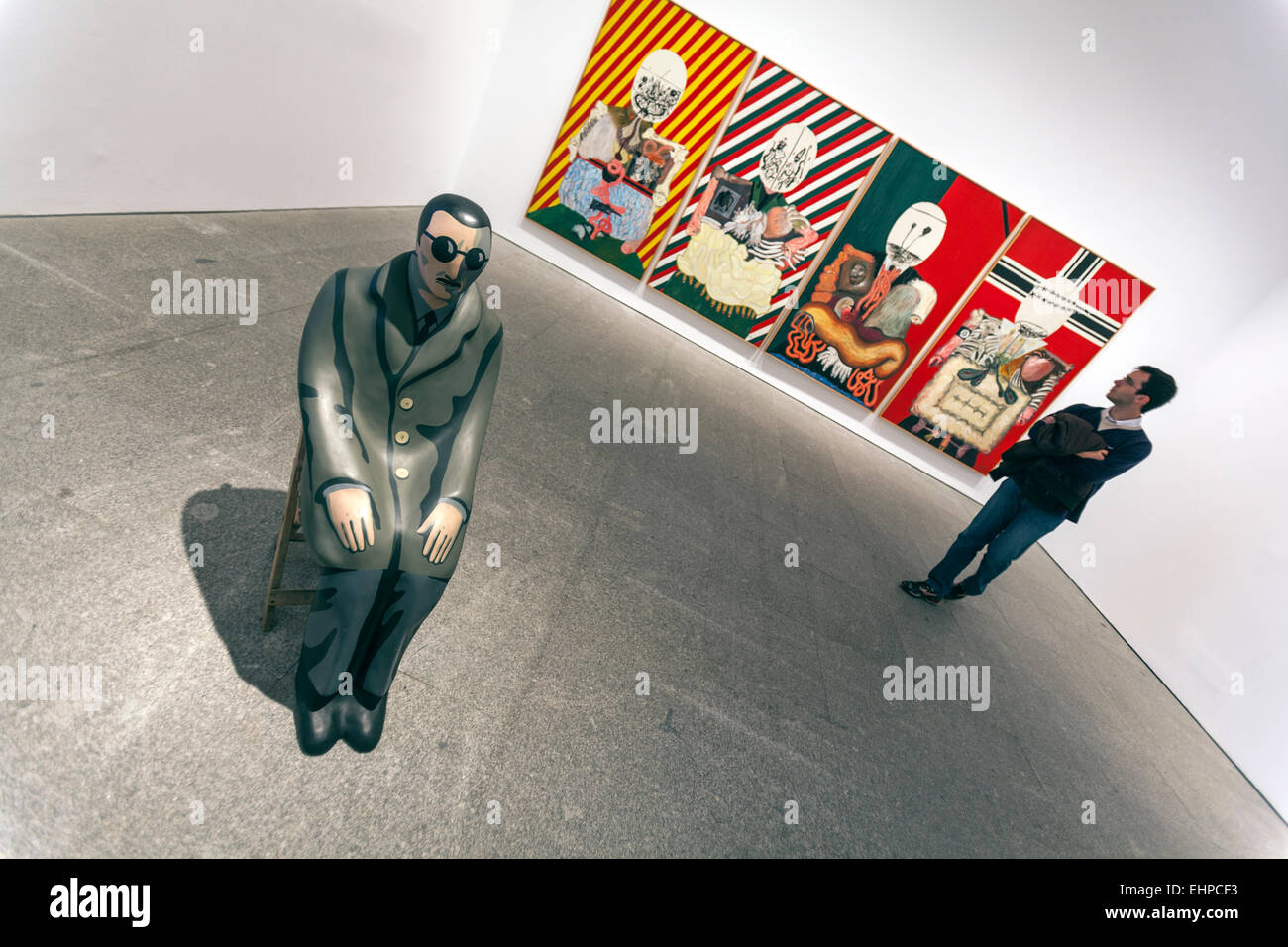 'The war is over? Art for a Divided World. Museo Reina Sofía is Spain's national museum of 20th-century - Stock Image