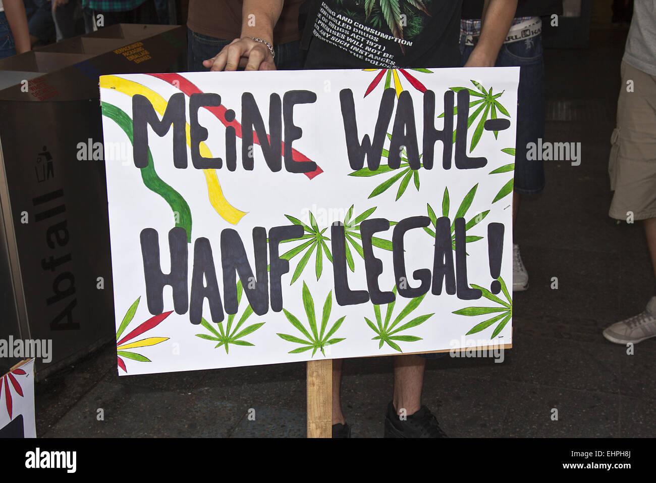 Hemp Parade Berlin - Stock Image