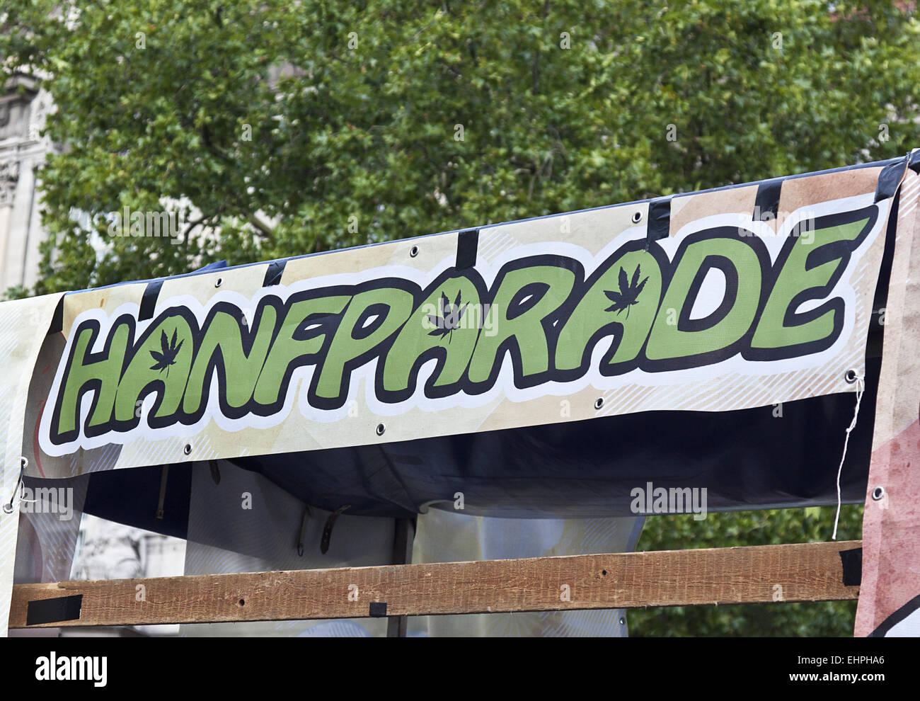 Hemp Parade Berlin Stock Photo