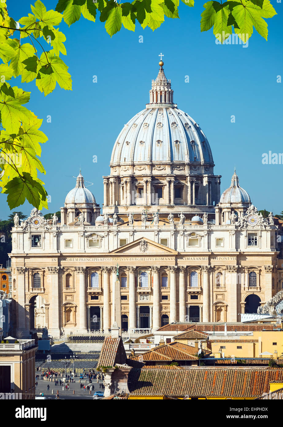 St. Peter's cathedral, Rome - Stock Image