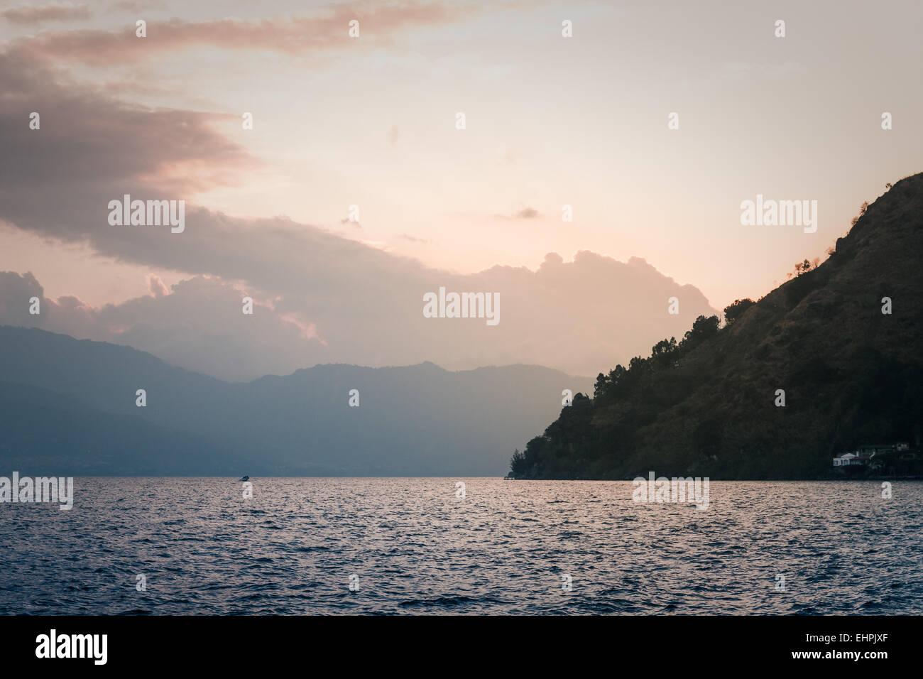 The Atitlan lake, Guatemala - Stock Image