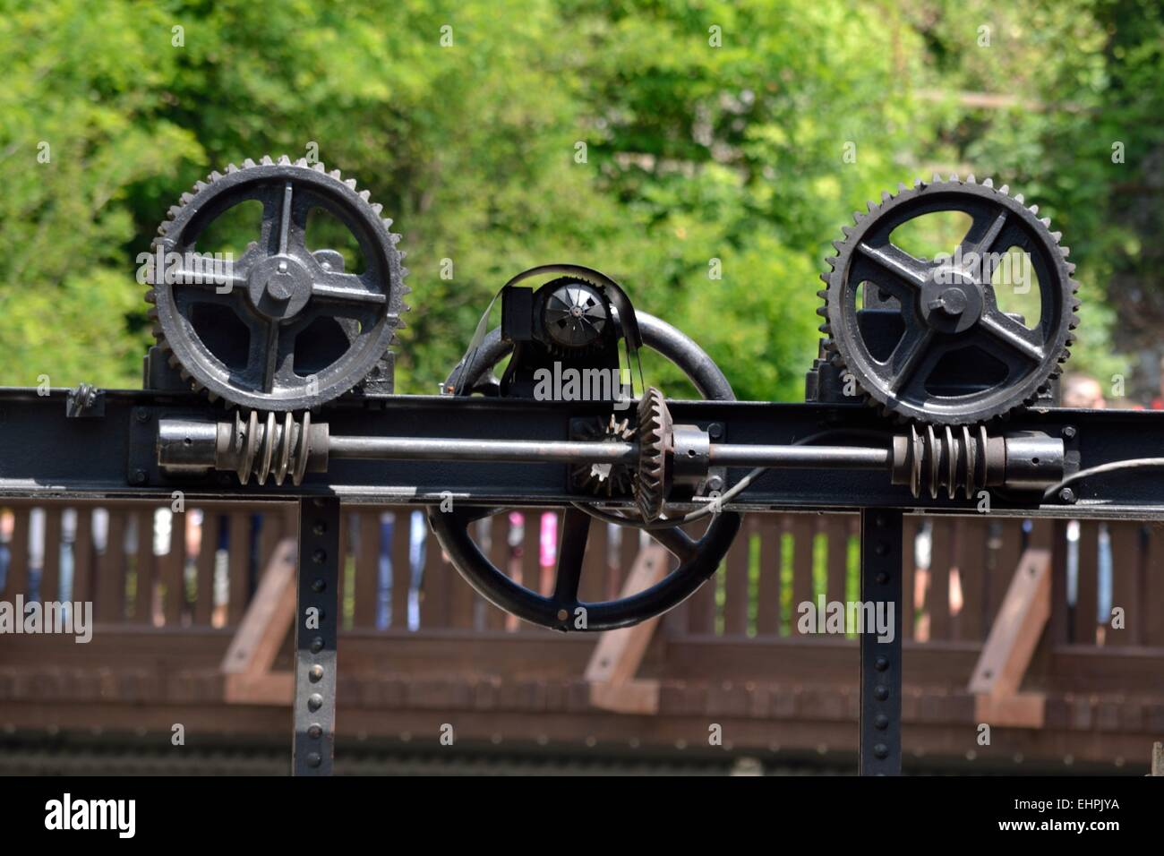 Gears in interaction - Stock Image