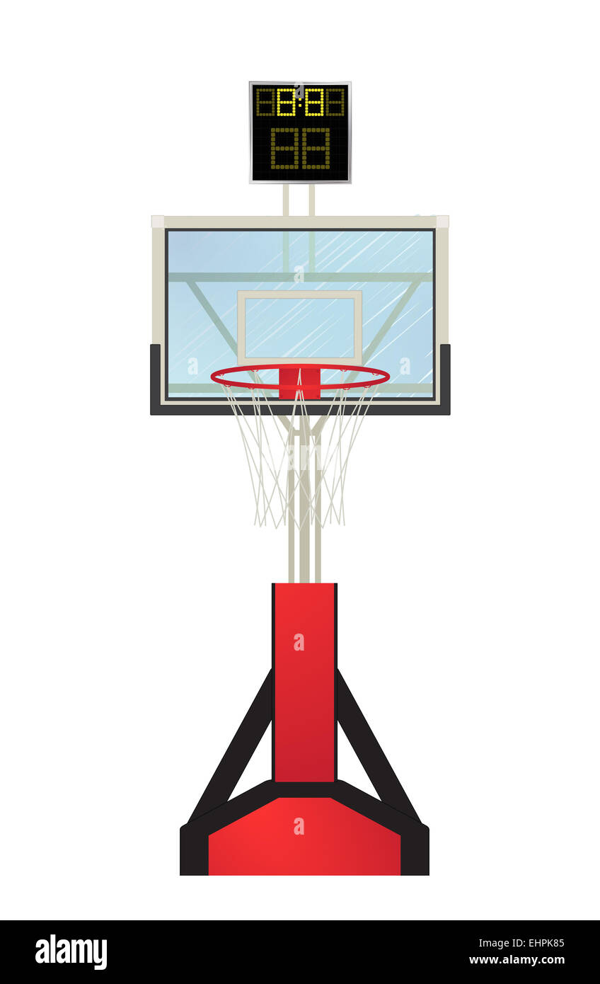 Basketball Hoop Cut Out Stock Images Pictures Alamy Diagram Image