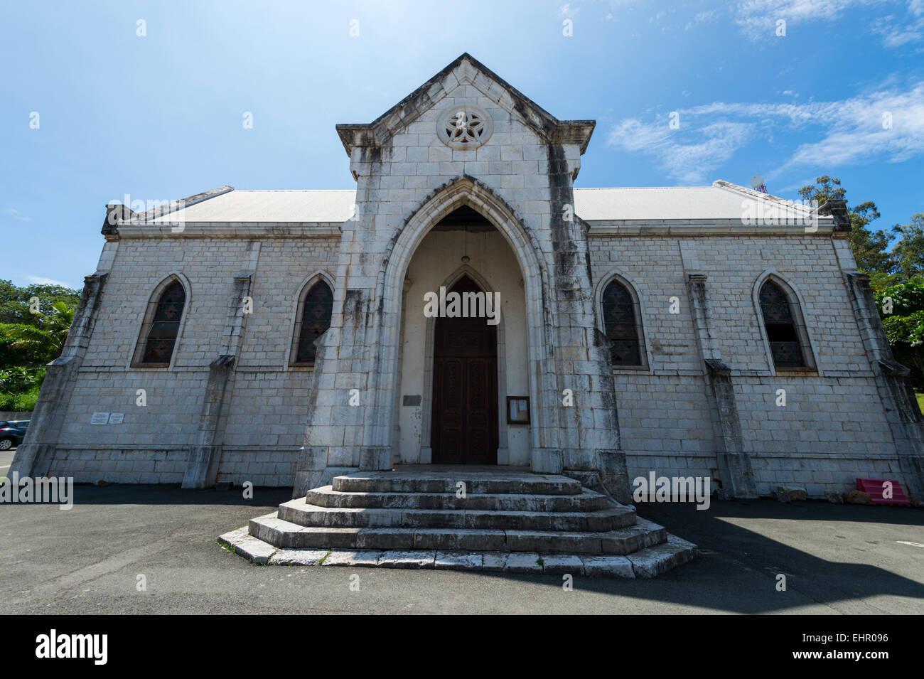 Noumea Church new Caledonia. - Stock Image