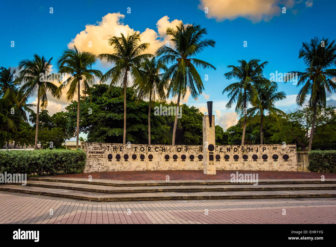 The Torch of Friendship in downtown Miami, Florida. - Stock Image