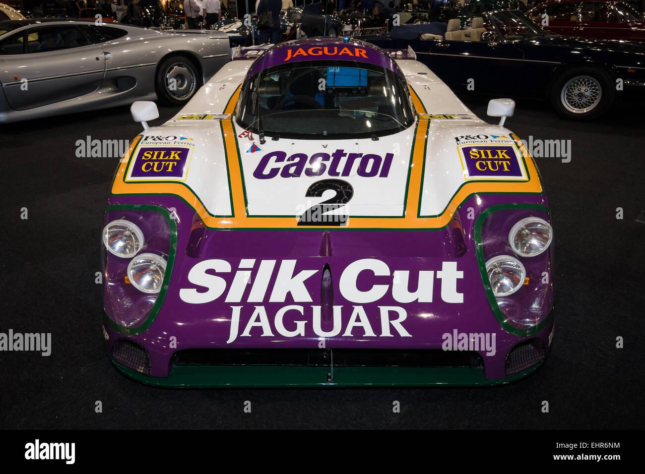A sports-prototype race car Jaguar XJR-9. Team Silk Cut ...