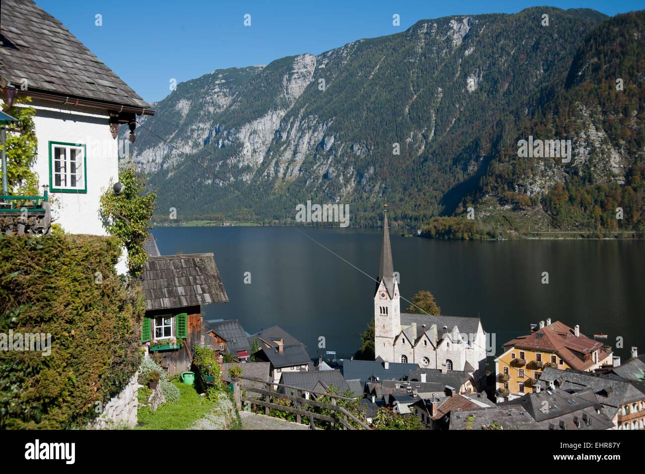 Hallstatt, Salzkammergut, Austria - Stock Image