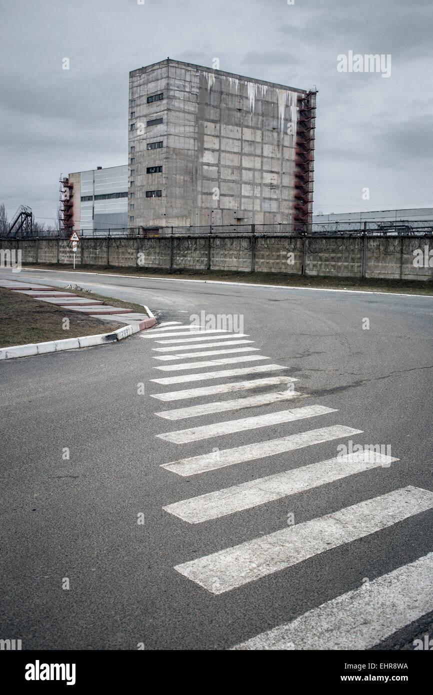 Reactor site, Chernobyl, Ukraine - Stock Image