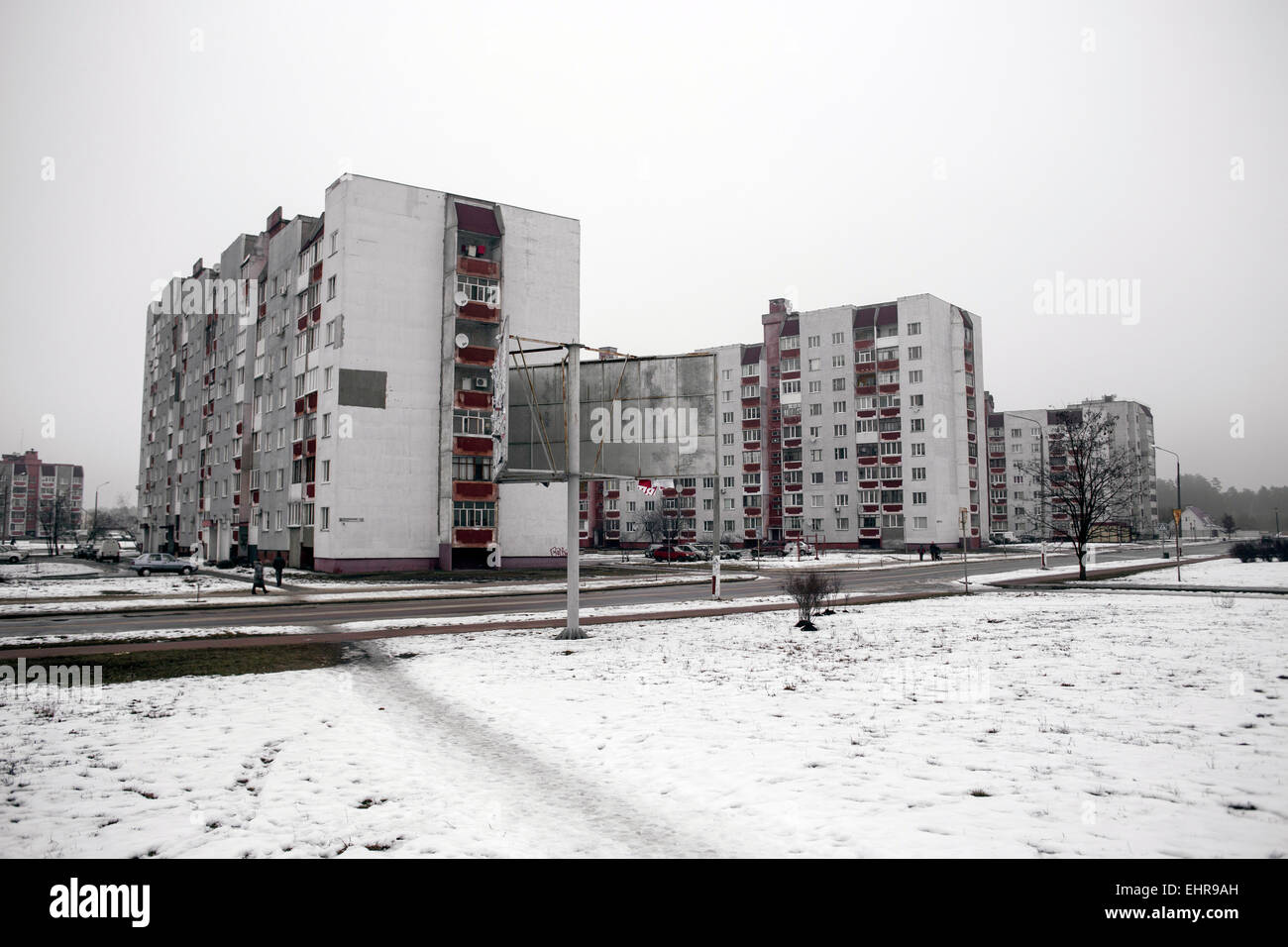 Flats built for the survivors of the Chernobyl disaster, Slavutych, Ukraine - Stock Image