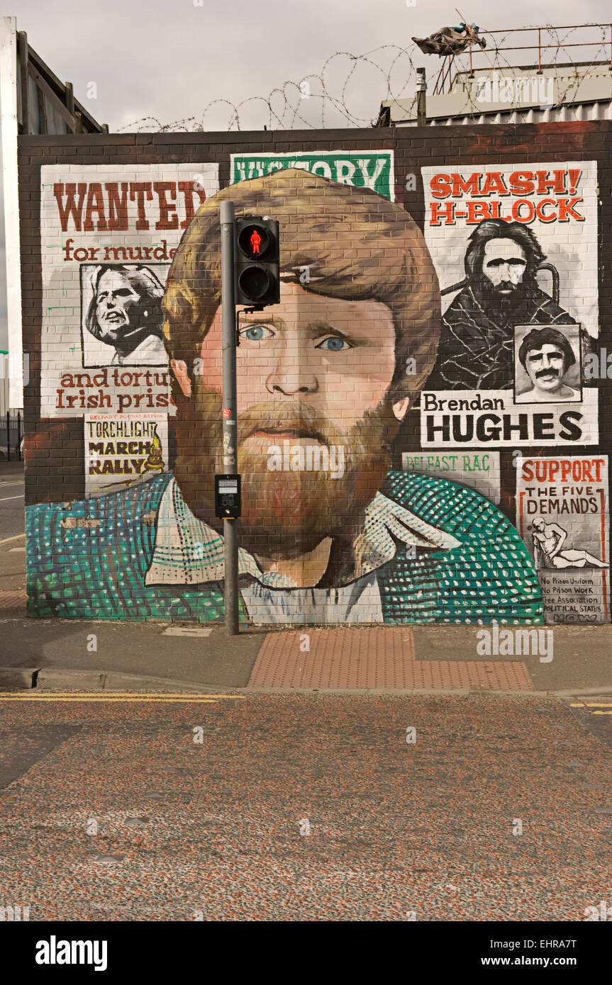 Republican Mural. West Belfast. Northern Ireland - Stock Image