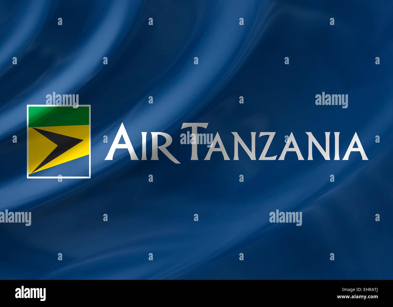 Air Tanzania logo icon flag emblem symbol - Stock Image