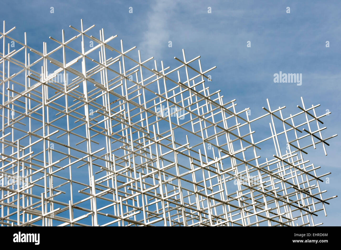 A detail of the 2013 Serpentine Gallery Summer Pavilion designed by the Japanese architect Sou Fujimoto. - Stock Image