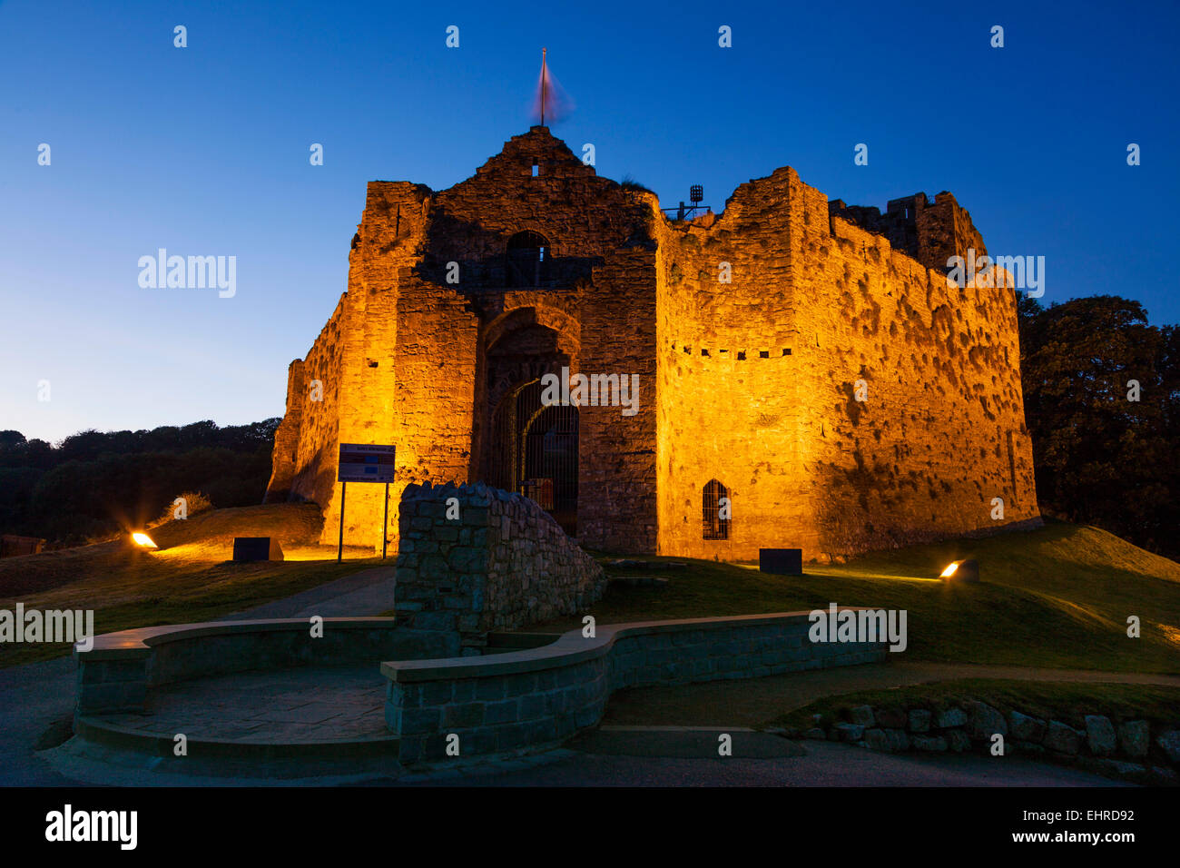 Oystermouth Castle, Mumbles, Swansea, Gower - Stock Image