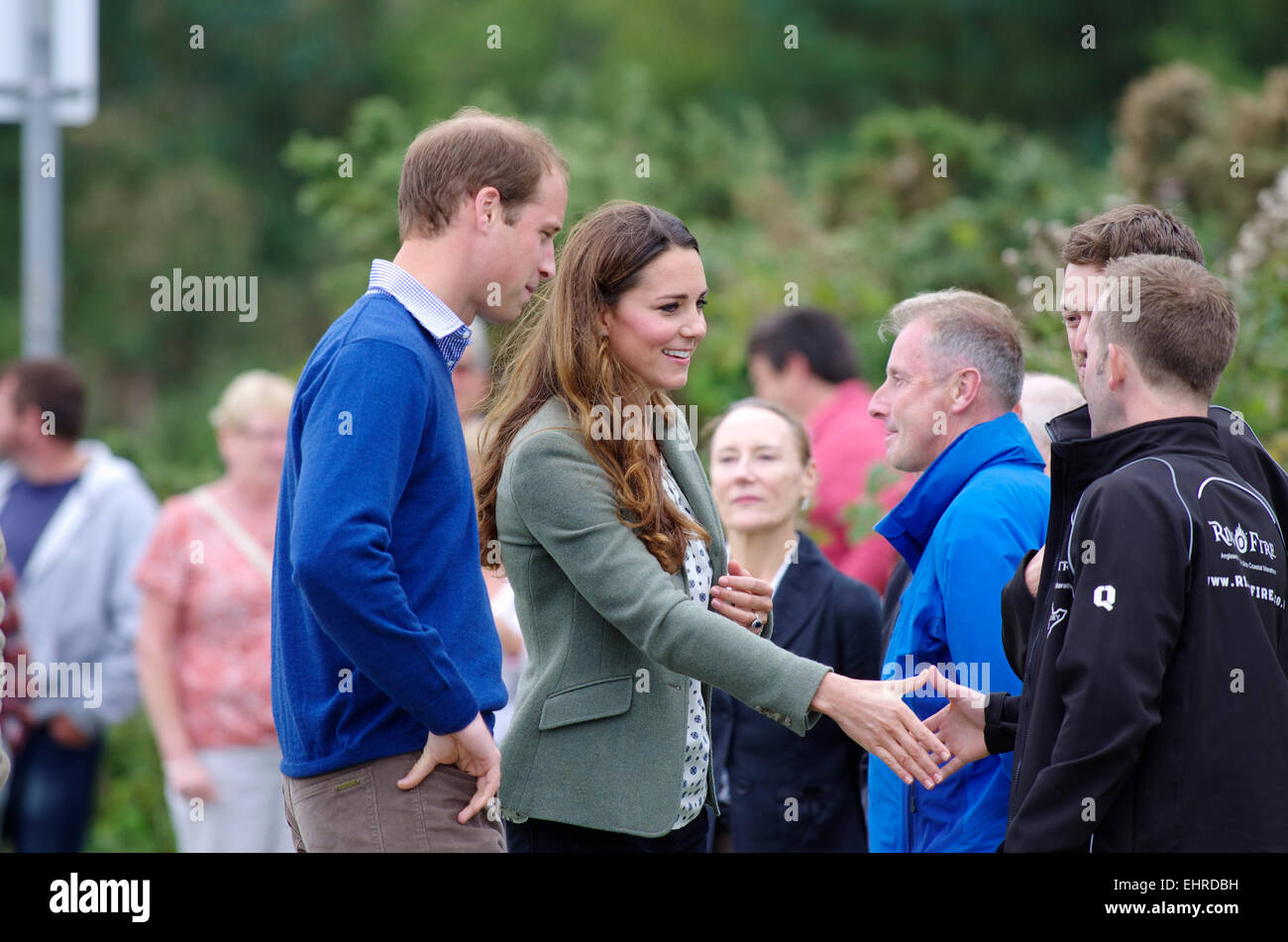 Prince William and Duchess of Cambridge, Ring O Fire; Anglesey Coastal Marathon - Stock Image