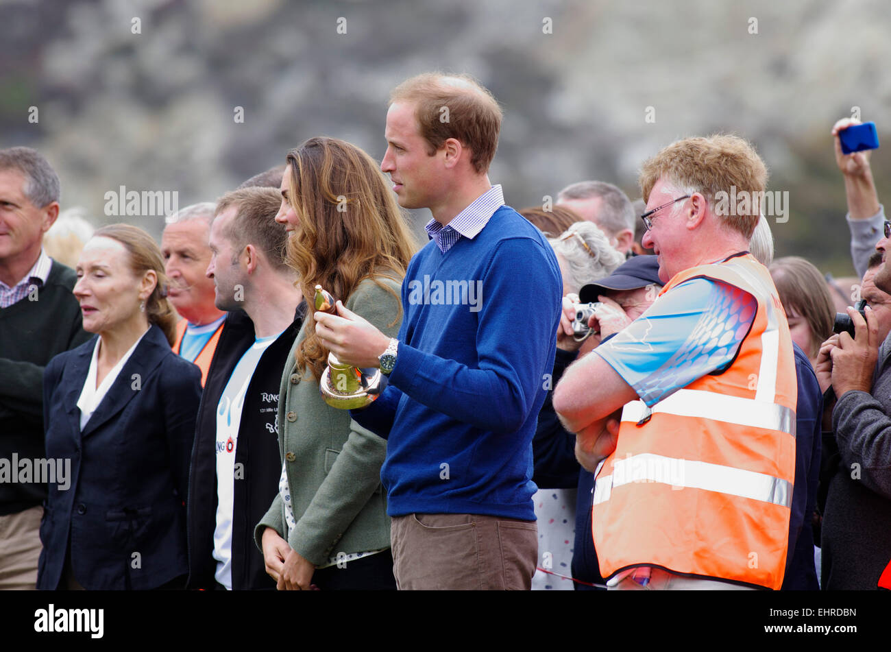 Prince William and Duchess of Cambridge, Ring O Fire; Anglesey Coastal Marathon Stock Photo