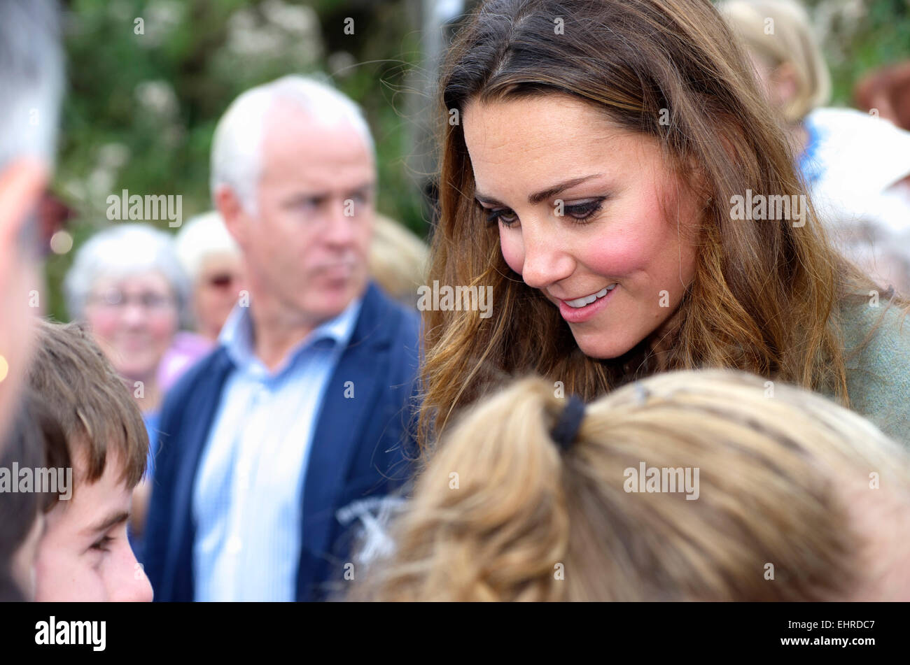 Duchess of Cambridge, Ring O Fire; Anglesey Coastal Marathon Stock Photo