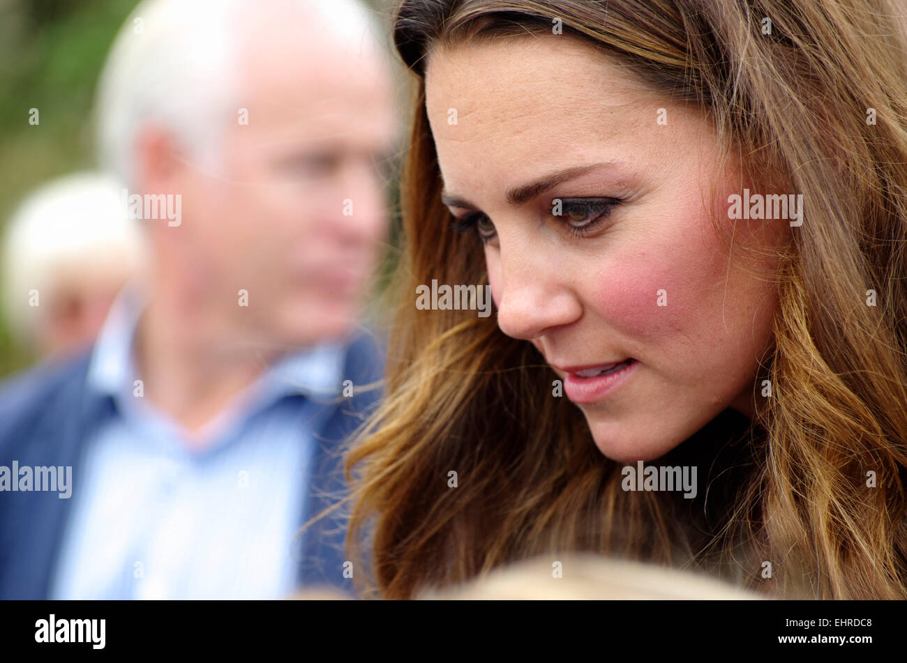 Duchess of Cambridge, Ring O Fire; Anglesey Coastal Marathon - Stock Image