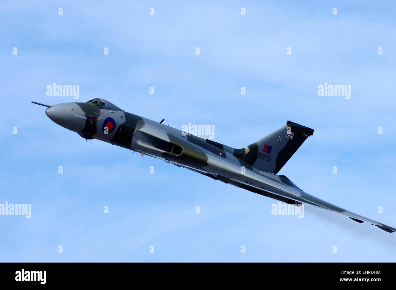 Avro Vulcan jet, Rhyl Air Display - Stock Image