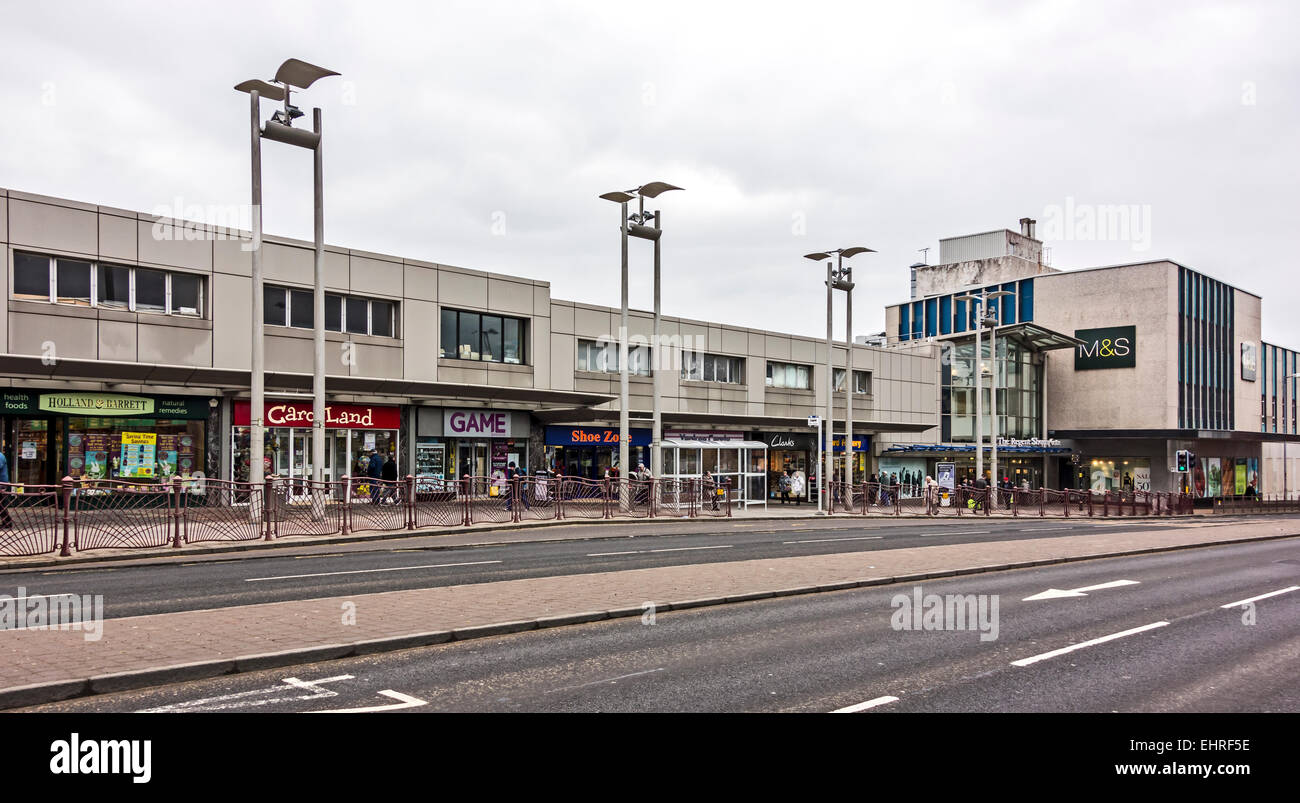 The Regent Shopping Centre in Duke Street Hamiton South Lanarkshire Scotland - Stock Image