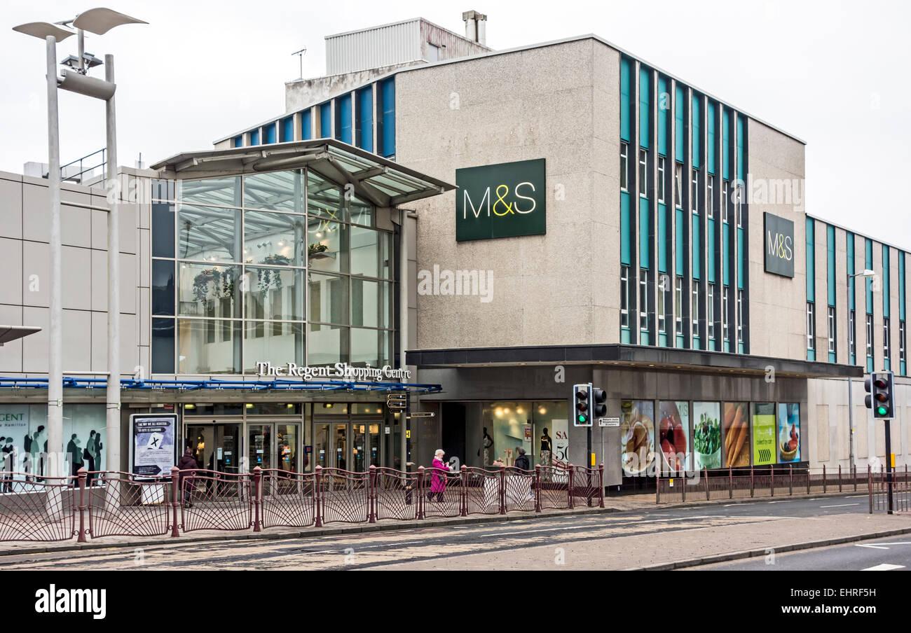 Entrance to The Regent Shopping Centre in Duke Street Hamiton South Lanarkshire Scotland - Stock Image