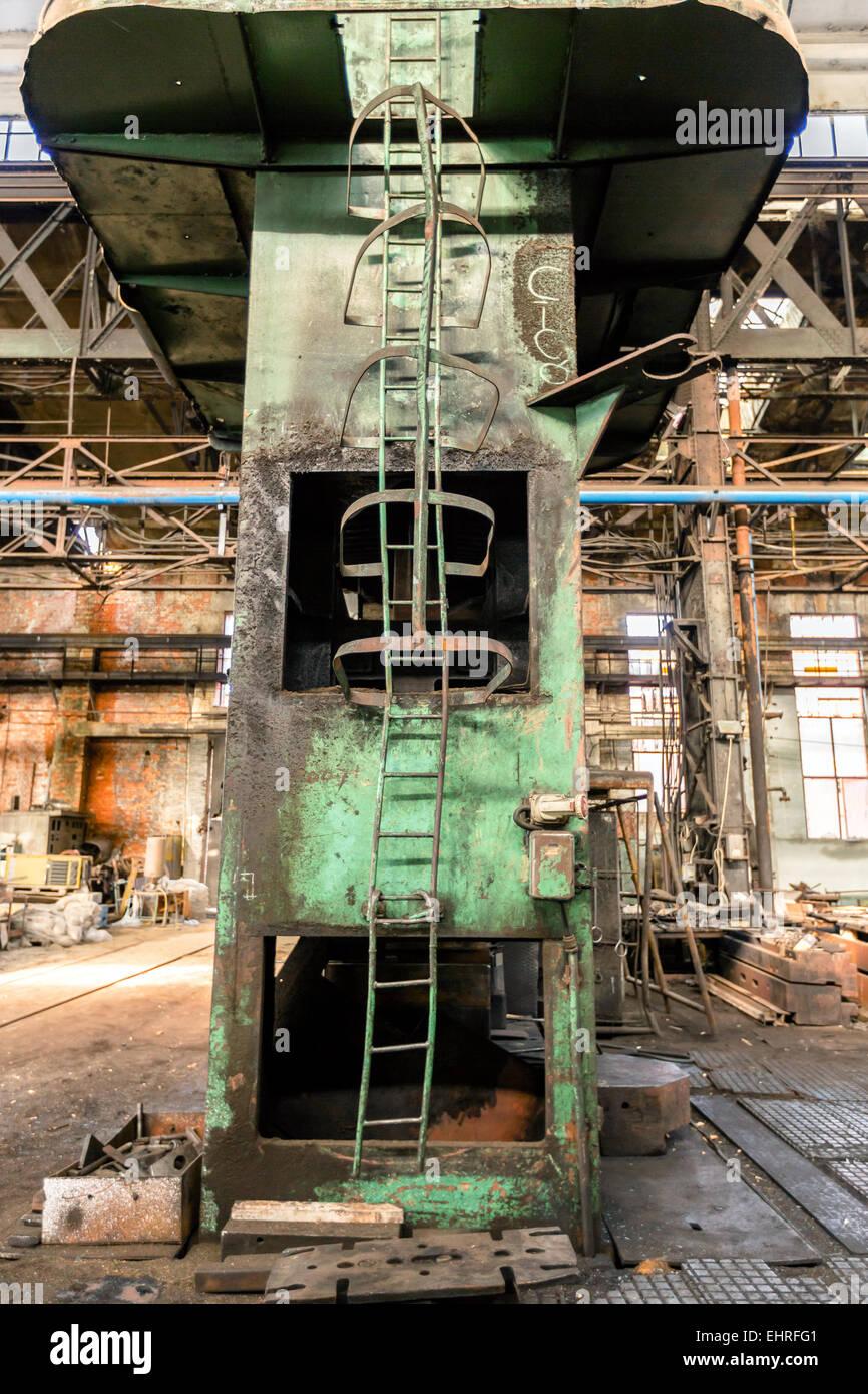 Ladder in industrial interior Stock Photo