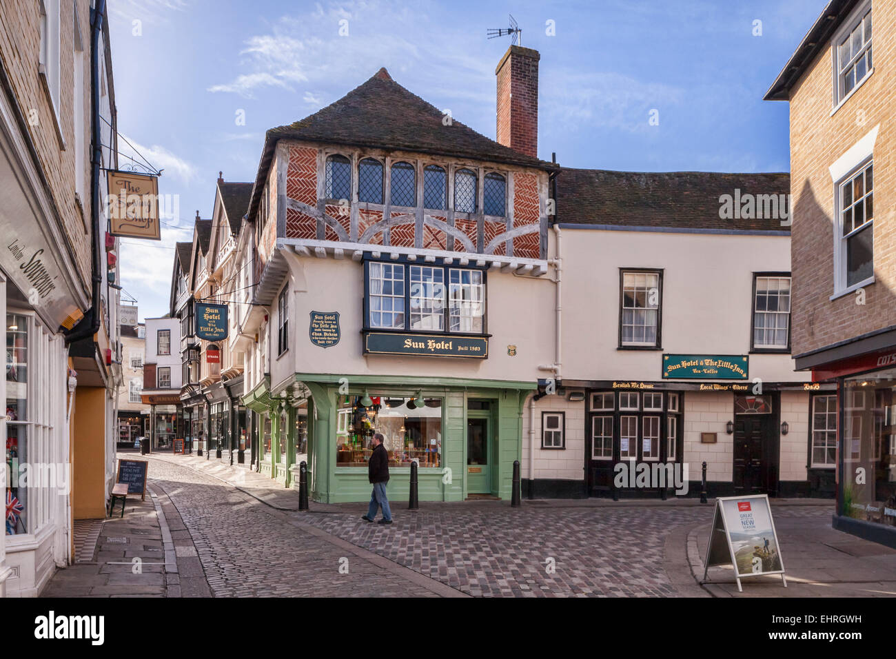 The Sun Hotel in Sun Street, Canterbury, Kent, England. - Stock Image