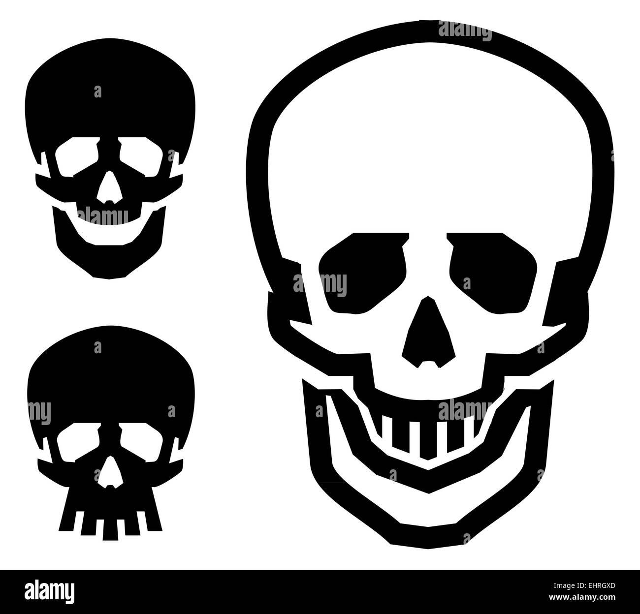 d82748dd651 Skull Vector Logo Design Template Stock Photos & Skull Vector Logo ...