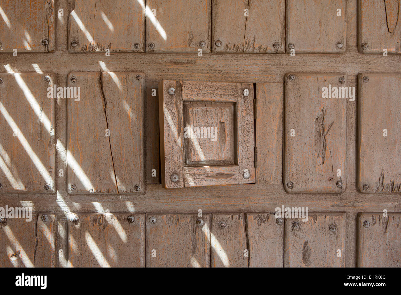 Doorway with an inspection hatch - Stock Image