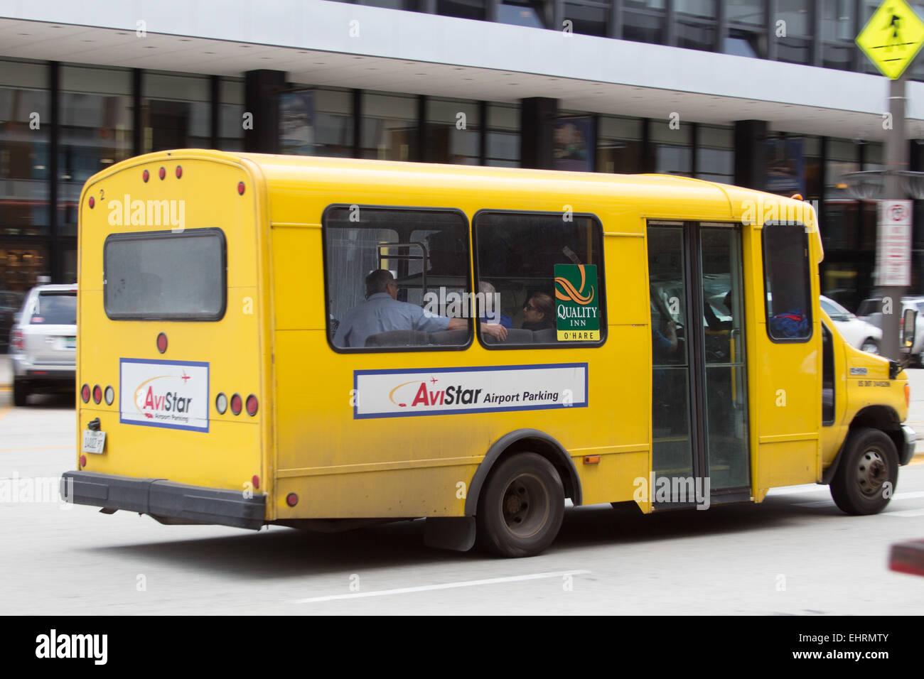 Avistar Airport Parking Shuttle Bus Stock Image