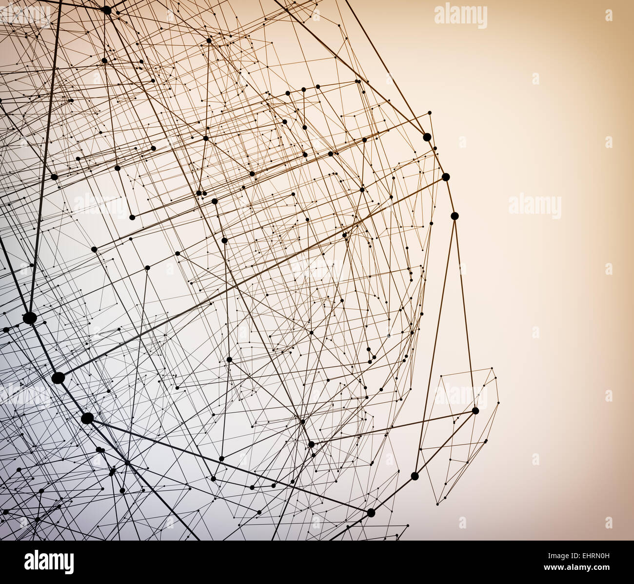 Abstract geometric polygonal structure - Stock Image