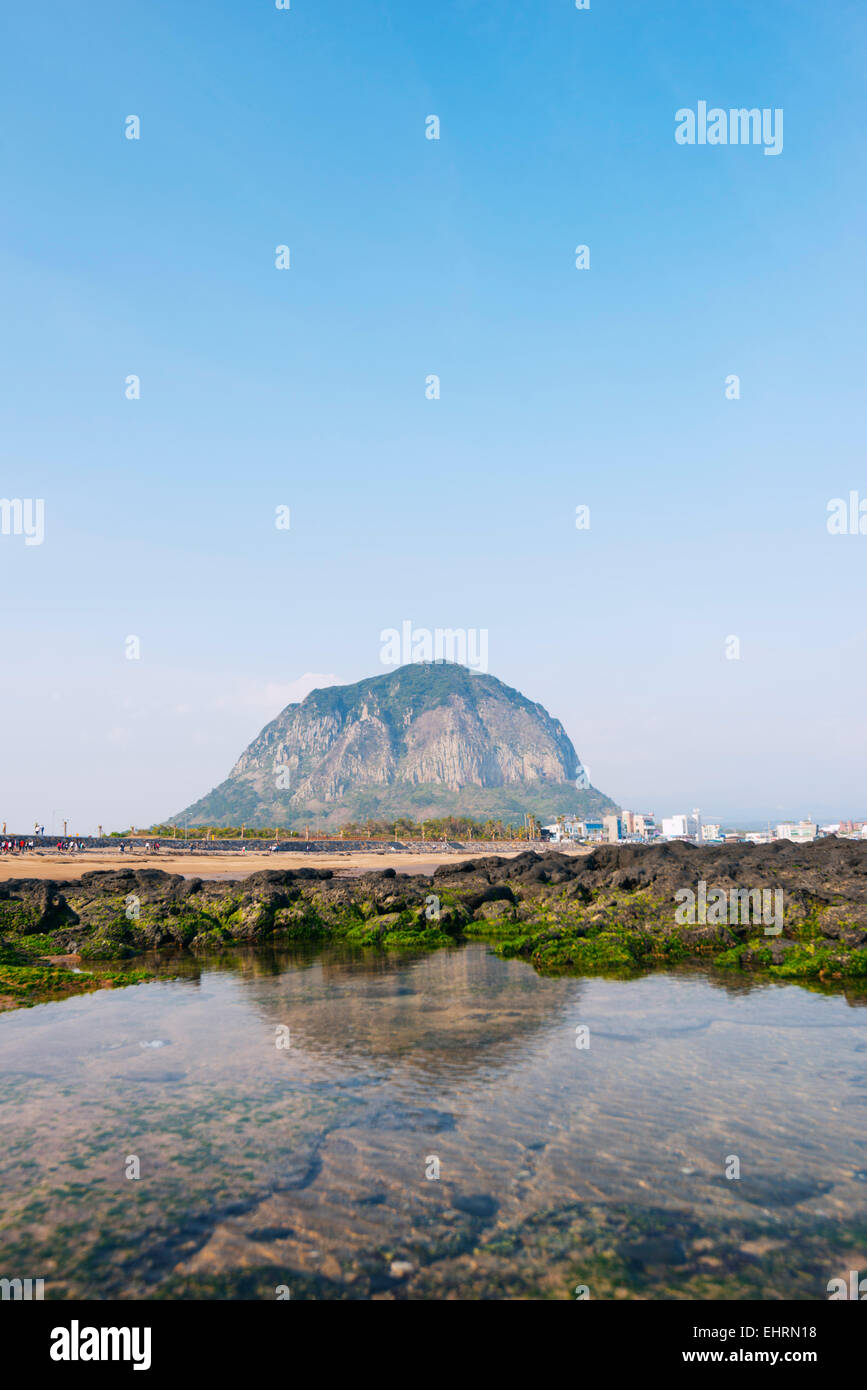 Asia, Republic of Korea, South Korea, Jeju island, Mt Sanbangsan Stock Photo