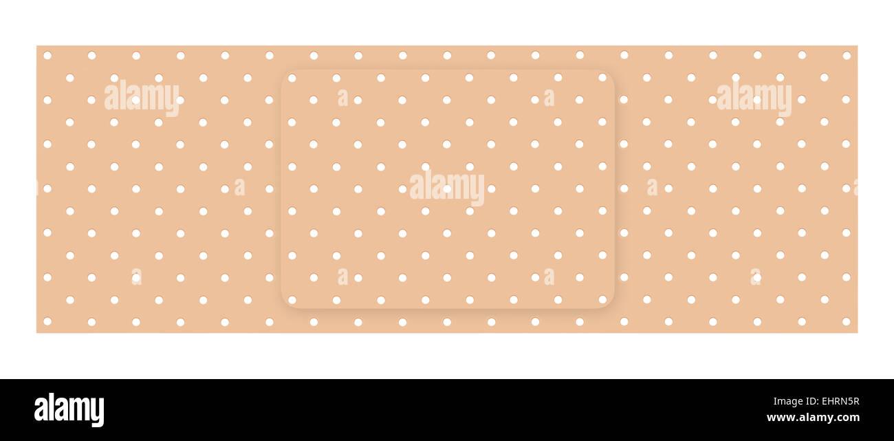 Adhesive bandage isolated on a white background - Stock Image