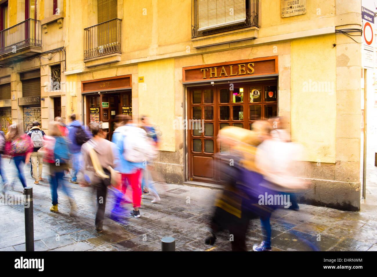Cafe Thales. Barcelona, Catalonia, Spain. Stock Photo