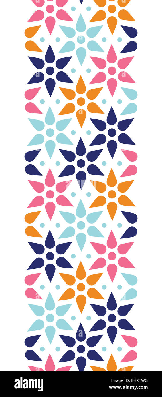 Abstract Colorful Stars Seamless Pattern Background Vertical