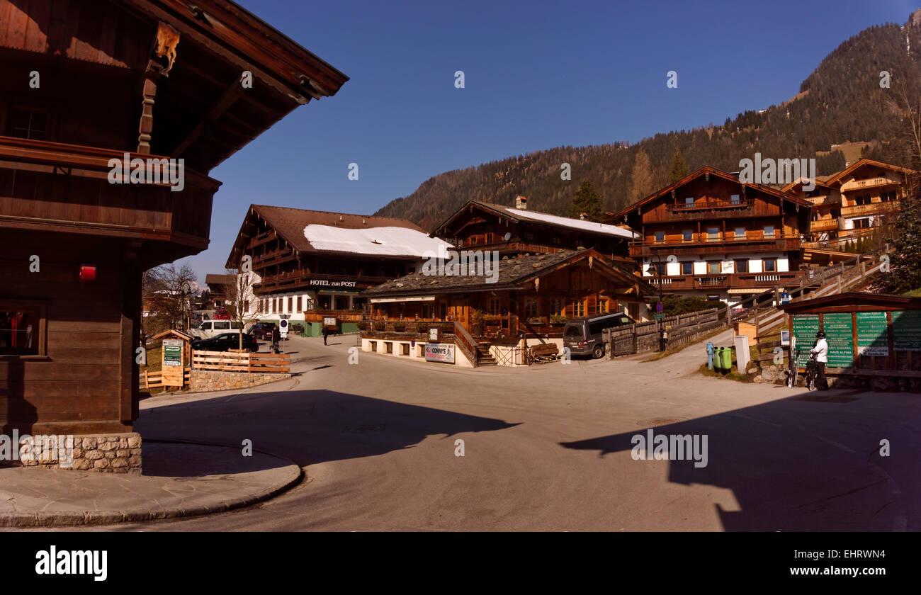 Alpbach village in the Tyrol region of Austria. Austria's prettiest village and well known ski resort. Stock Photo