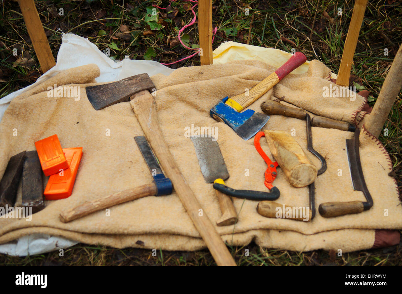 Tools Used In Hazel Wattleing And Other Green Woodworking