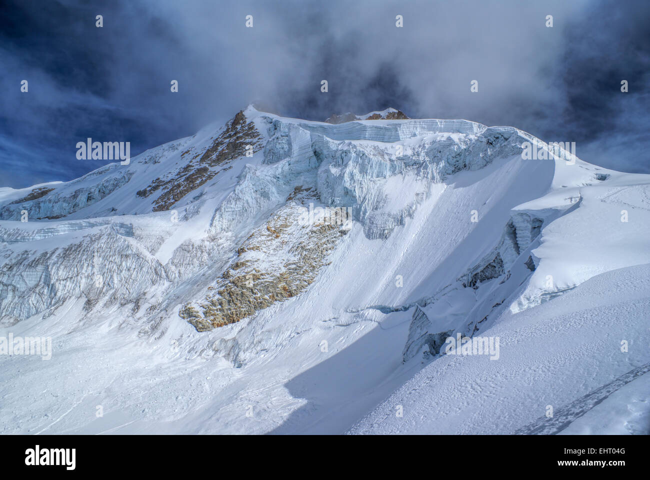 Amazing view of Huayna Potosi mountain in Bolivia - Stock Image