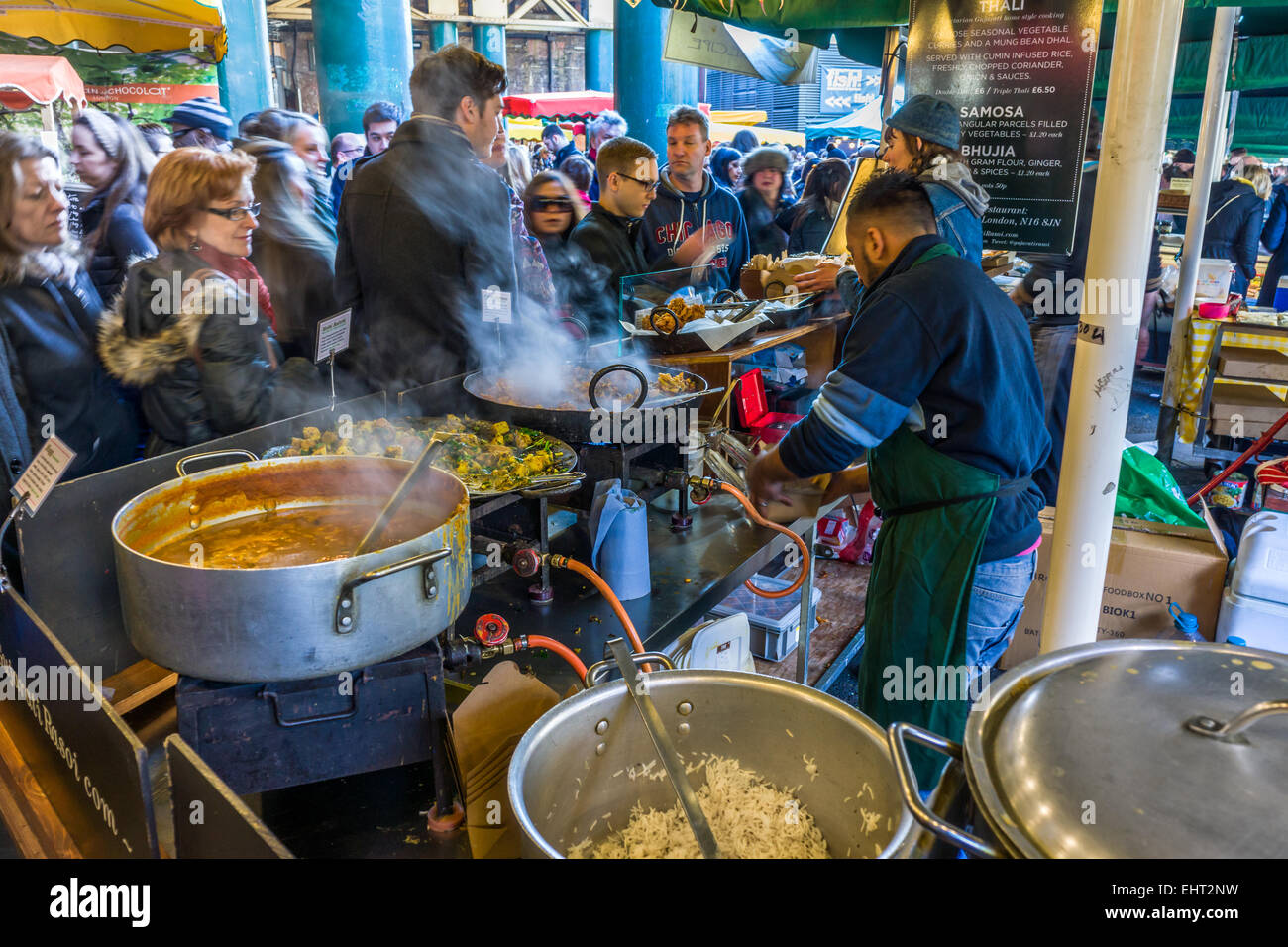 Borough Market Curry - Stock Image