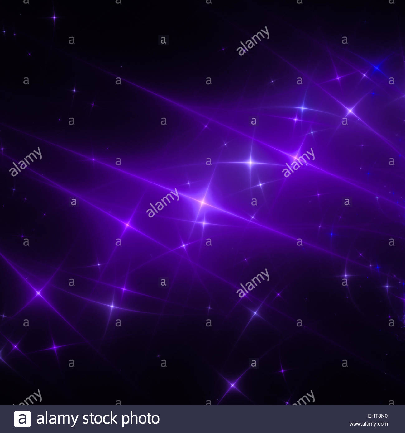 starry sky fractal - Stock Image