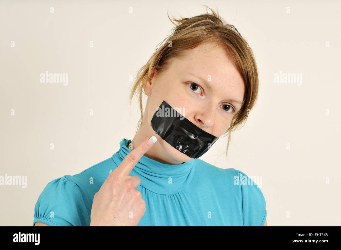 forbidden to speak - Stock Image