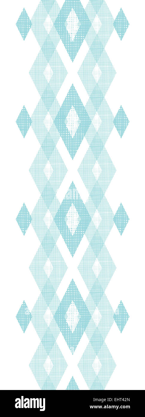Pastel Blue Fabric Ikat Diamond Vertical Seamless Pattern Background    Stock Image