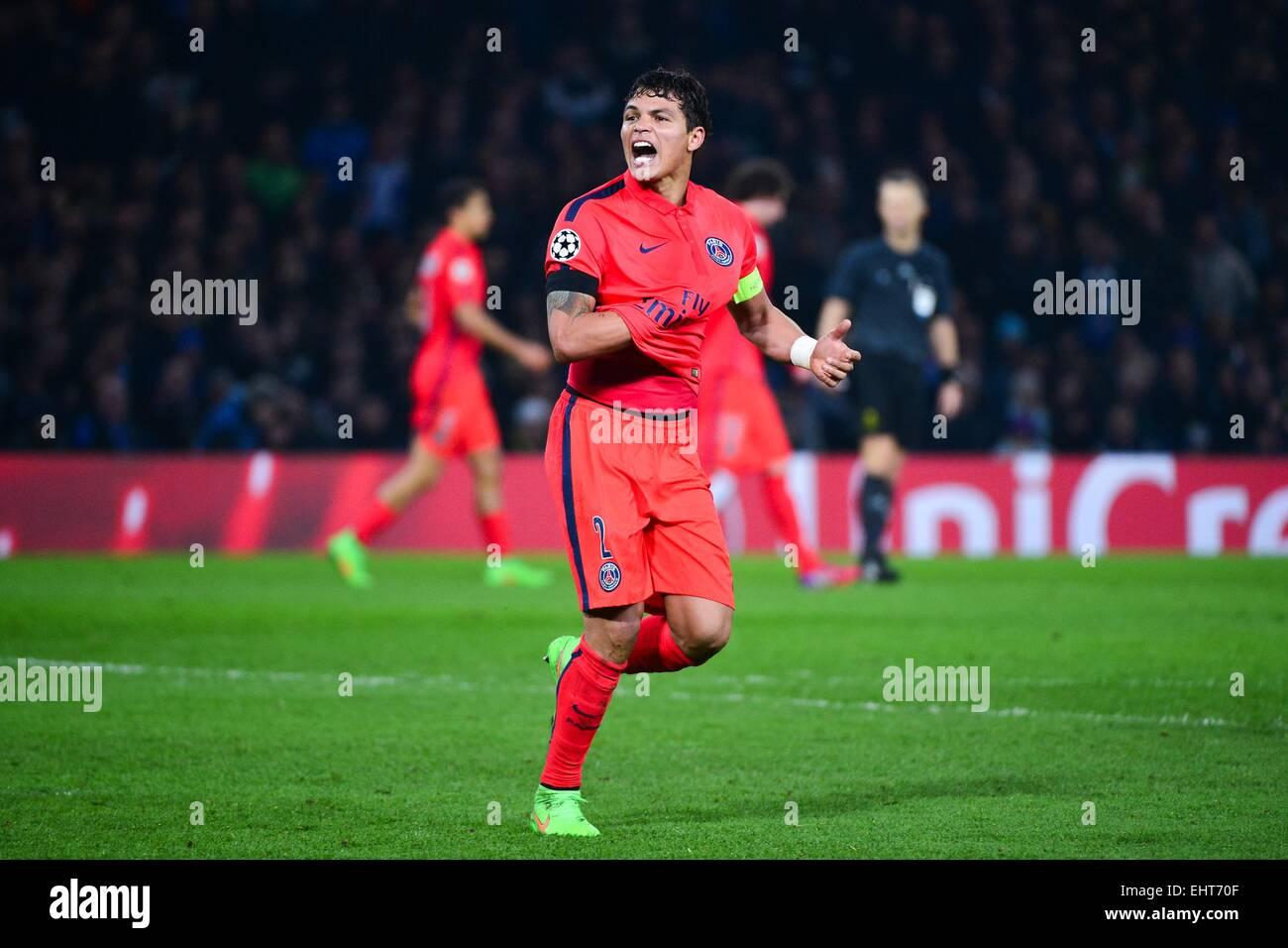 44bfbcd638 Joie Thiago SILVA - 11.03.2015 - Chelsea / Paris Saint Germain - 1/