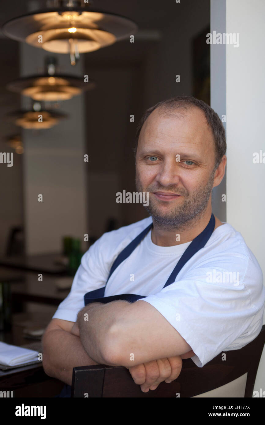 Simon Rogan Chef  Patron at L'Enclume and Fera Restaurants - Stock Image