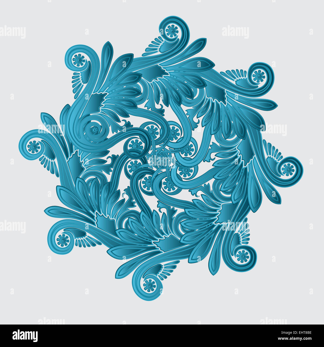 Decorative flourish design - Stock Image