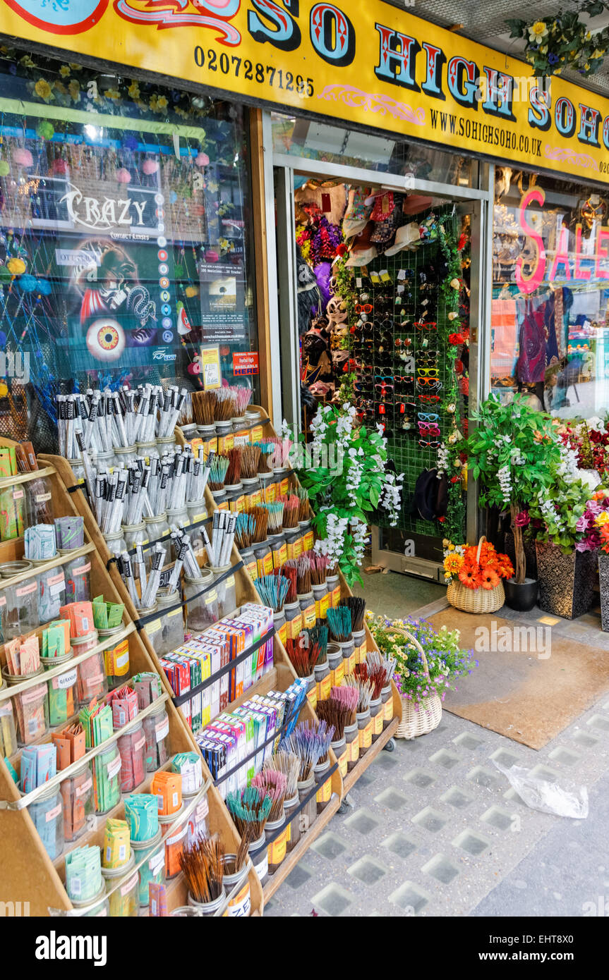So High Soho shop with party accessories, London England United Kingdom UK - Stock Image