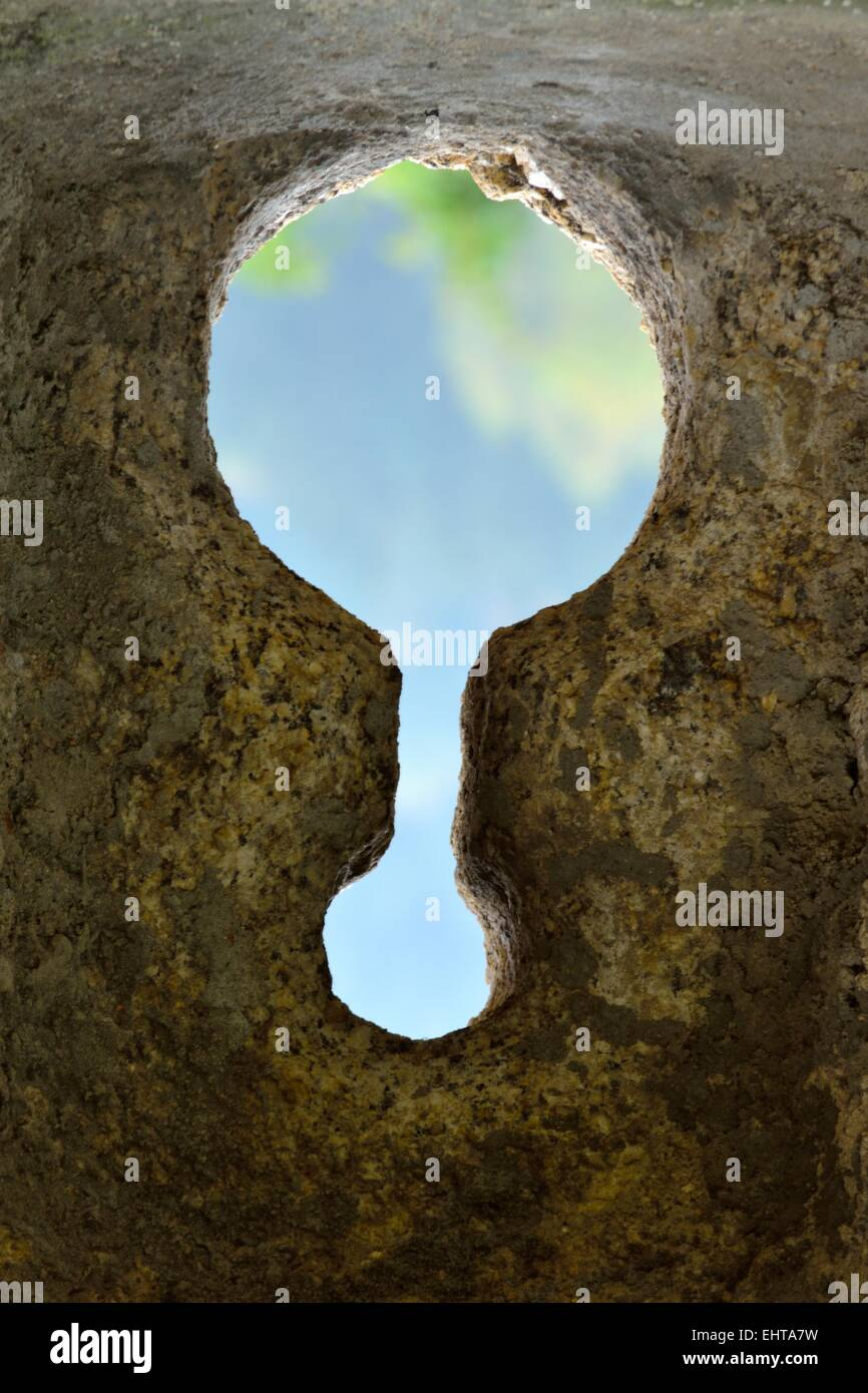 Keyhole-shaped outlook - Stock Image