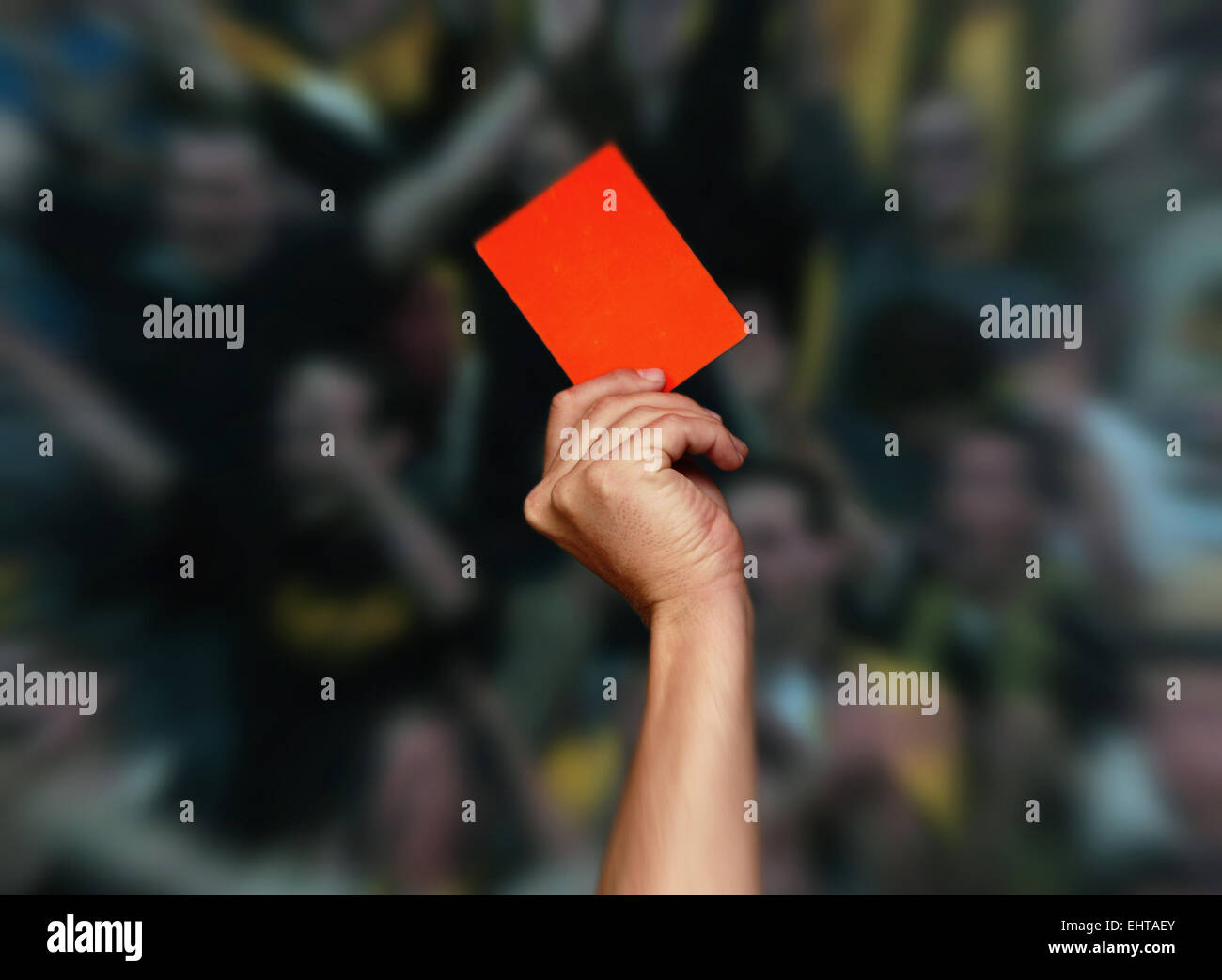 Red Card - Stock Image