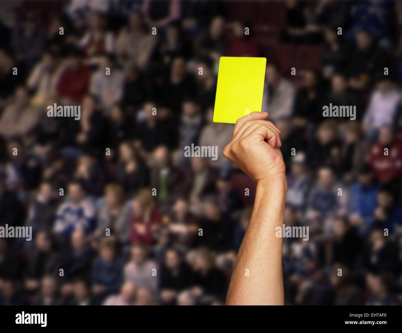 yellow Card - Stock Image